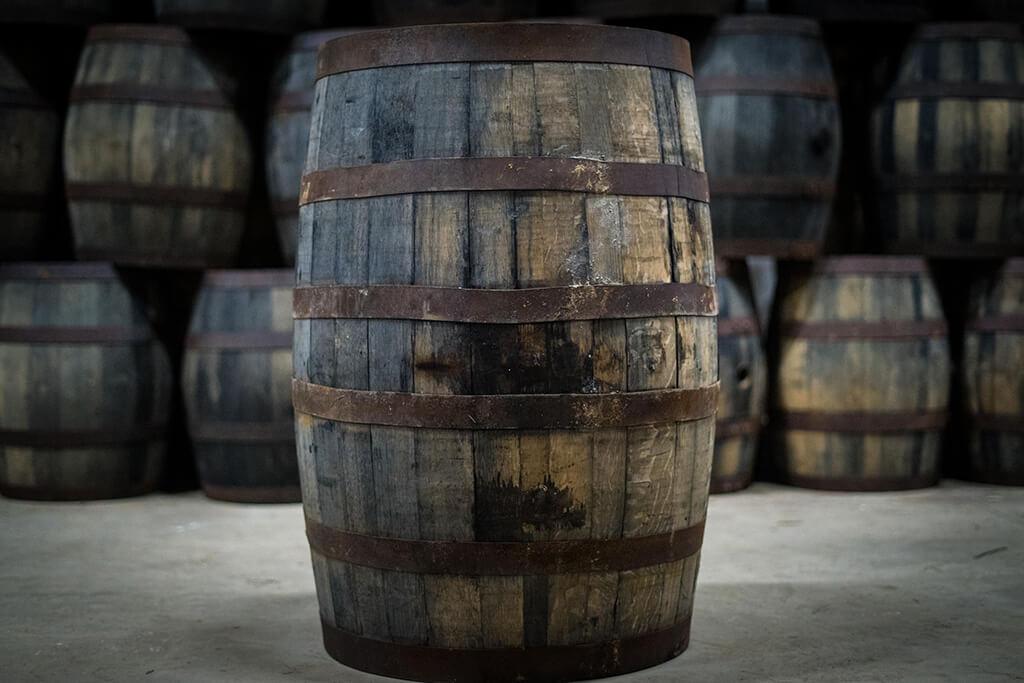 Raasay distillery four roses cask side
